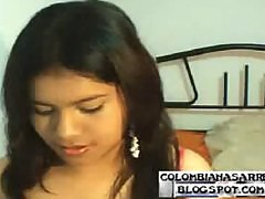 Colombian school girl at the webcam