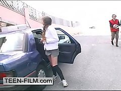 Girl friend ask to stop the car she wanted to change clothes LOL
