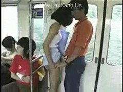 Cutie Teen Fucked in Public Train