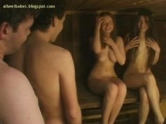 Russian Foursome At The Sauna 12